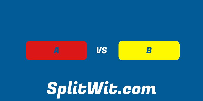 A vs B experimentation