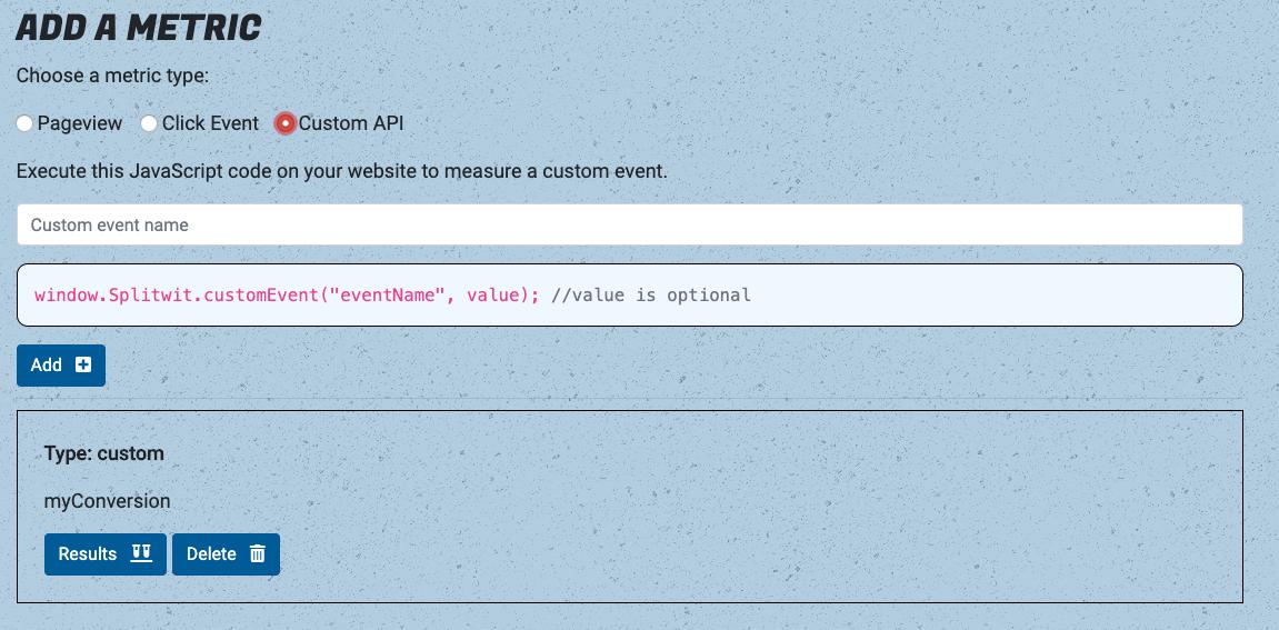 Custom API call